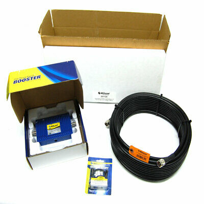 NEW Wilson Dual-Band Signal Booster Kit w/ Yagi Antenna, 75' Cable, and Adapter