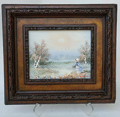 """French Impressionist Style Signed Oil On Canvas  Painting 16"""" X 14"""""""