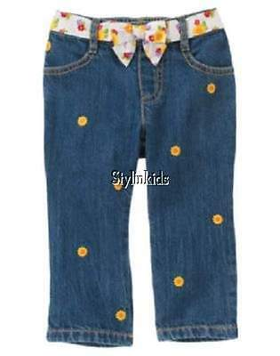 Gymboree Sunflower Smiles Jeans 18-24 Months Girls Blue Denim Pants New