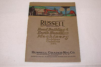 Russell Road Building & Earth Handling Machinery Bridges Culvert 1920's Catalog