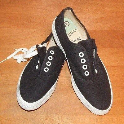1970's ARCH KIX Black Canvas Sneakers RARE (Size 7) ~ Made in USA