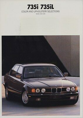 1990 BMW 735i 735iL Color & Upholstery Brochure d0819