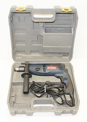 "Ryobi Corded Hammer Drill 1/2"" Inch 2 Speed Reversible with Case D552H"