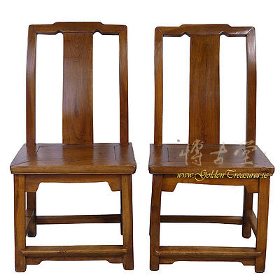 Chinese Antique Carved Low Chairs - Pair 28P18A