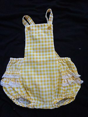 vintage baby girl sunsuit romper