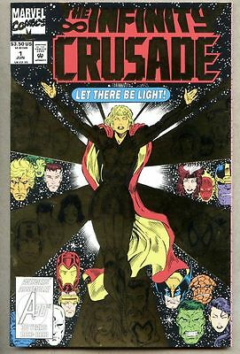 Infinity Crusade #1-1993 nm- Giant-Size Jim Starlin Foil cover Avengers Thanos