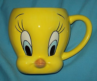 TWEETY BIRD face Coffee Mug MINT Warner Bros. Looney Tunes Drinking Cup toon fun
