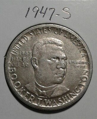 1947 S Booker T Washington Half Dollar