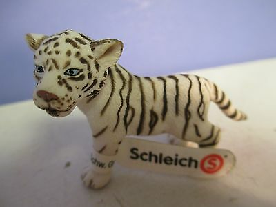 Schleich WHITE TIGER CUB with tag -