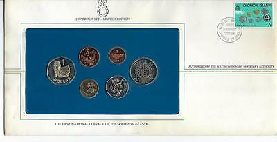 1977 Solomon Islands Cuni Proof First Day Cover