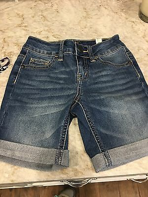 Justice NWT Girls Denim Shorts, SZ 6 Regular