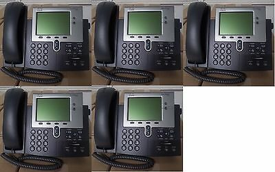 *  LOT OF 5  Business CISCO IP Phone 7942 VoIP CP-7942G Office Telephone