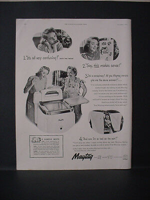 1947 Maytag Washer Home Appliance Full Page Vintage Print Ad 11668