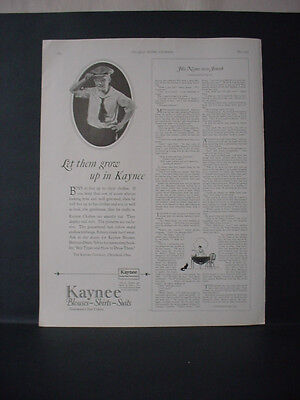 1924 Kaynee Boys Clothing Blouses Shirts Suits Fashion Vintage Print Ad 11731