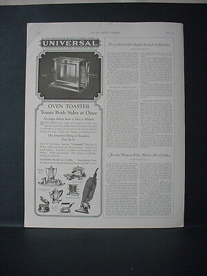 1924 Universal Oven Toaster Vacuum Cleaner Iron Appliance Vintage Print Ad 11717