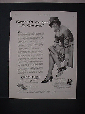 1925 Red Cross Women's Shoe Shoes Full Page Art Vintage Print Ad 250