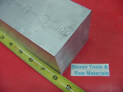 "3-1/2"" X 3-1/2"" ALUMINUM 6061 SQUARE SOLID BAR 8"" long T6511 Flat Mill Stock 3.5"