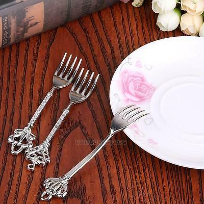 3Pcs Kitchen Dining Bar Cutlery Fork Set Classic Fruit Fork Dessert Cake Forks