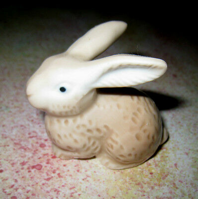 Vintage Otagiri Porcelain Beige Brown Bunny Rabbit Figurine Easter