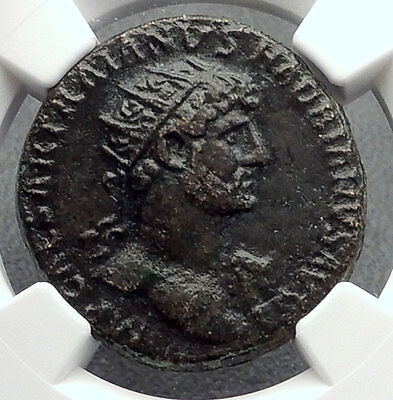 HADRIAN Original 117AD Rome Dupondius Authentic Ancient Roman Coin NGC i60219