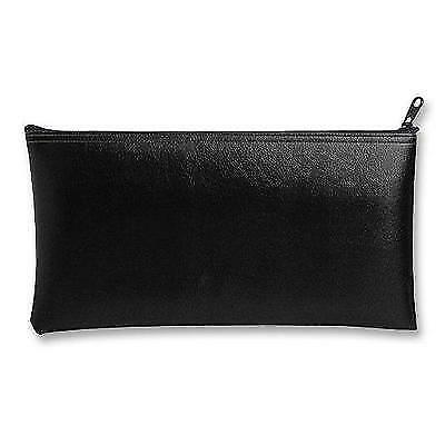 MMF Industries Leatherette Zipper Wallet, 11 x 6 Inches, Black (2340416W04) New