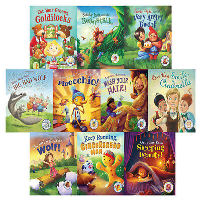 Steve Smallman Collection Fairytales Gone Wrong 10 Books Set Eat Your Greens Gol