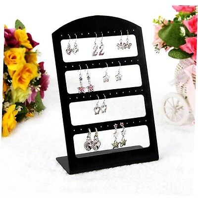 24 Holes Plastic Earring Show Display Rack Countertop Stand Organizer Holder RT