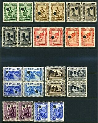 Peru 1936 And 1937 Postage And Air Waterlow Specimens
