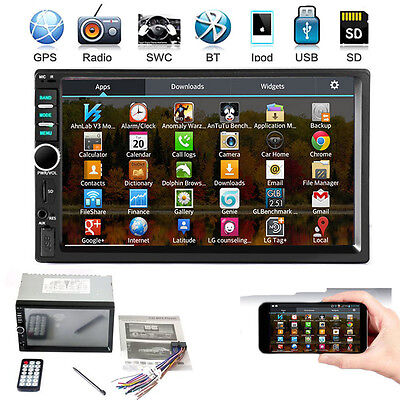 """7"""" Double 2 DIN In-Dash Bluetooth Car Stereo GPS USB TF FM Radio MP3 MP5 Player"""