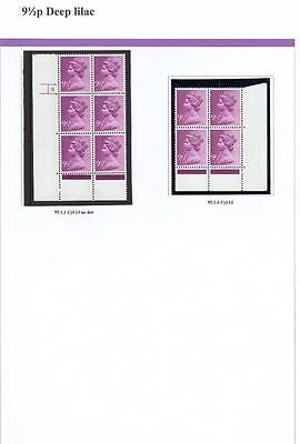 SPECIALISED COLLECTION OF UNMOUNTED MINT 91/2p MACHINS