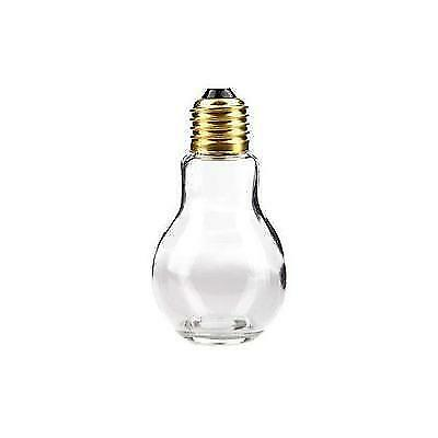 """4 1/4"""" Glass Light Bulb Jar with Gold Lid New"""