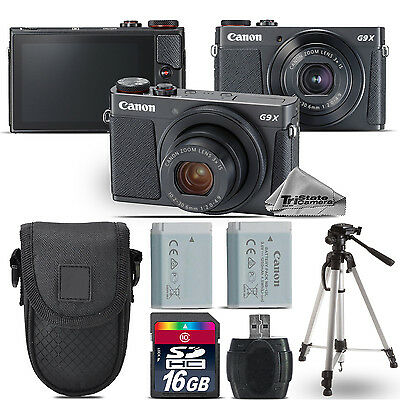 Canon PowerShot G9 X Mark II Digital DIGIC 7 Camera + Tripod + Case - 16GB Kit