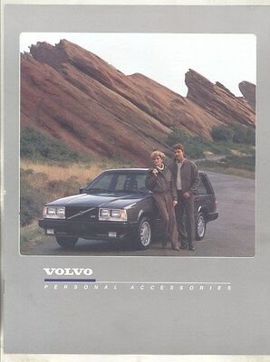 1985 Volvo Personal Accessories Leather Jacket Sweater Luggage Brochure my7203