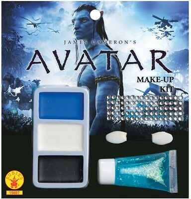 Avatar Navi Make-Up Set Karneval Fasching Party Schminke Pandora blau Film