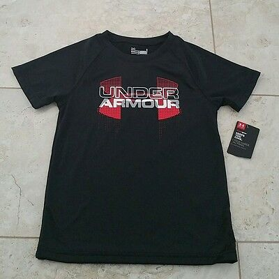 New Under Armour Kids Boys Black Graphic T-Shirt Top Size: 4