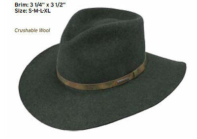 0c5eb8f87f9 STETSON WATER REPELLENT Crushable Hat PALMER Olive Mix Color Size XL ...