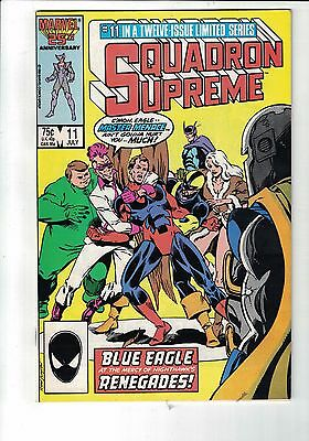 Marvel Comic SQUADRON SUPREME NO 11 JUly 1986  cents issue