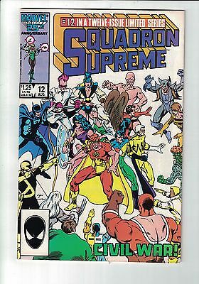 Marvel Comic SQUADRON SUPREME NO 12 Aug 1986  cents issue