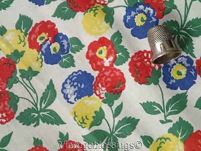 """Fabulous! 2 2/3 Yards VINTAGE 1930s Packed Floral Cotton Fabric 35"""""""
