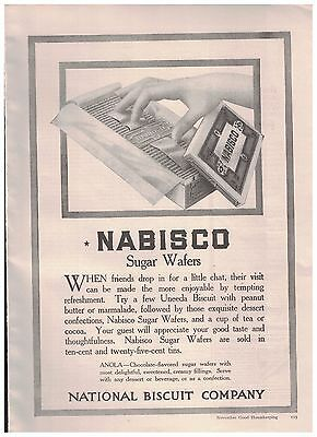 1916 Nabisco Sugar Wafers From The National Biscuit Company Ad