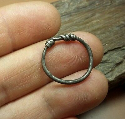 Fine  ANCIENT CELTIC SILVER COILED  RING - 1 pc.  #2521