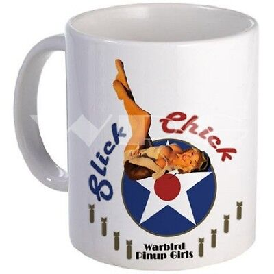 Slick Chick Mug - Warbird Pinup Girls - Dishwasher and Microwave Safe