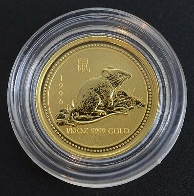 "1996 Australia ""Year of the Rat"" 1/10 Ounce Gold (Series I)"