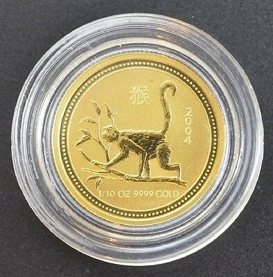 "2004 Australia ""Year of the Monkey"" 1/10 Ounce Gold (Series I)"