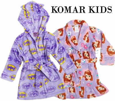 New Girls Komar Kids Velvet Fleece Flame Resistant Robe Variety Of Styles Sizes!