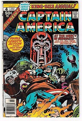 CAPTAIN AMERICA ANNUAL #4 (FN-) Written & Drawn by Jack Kirby! Magneto App! 1977
