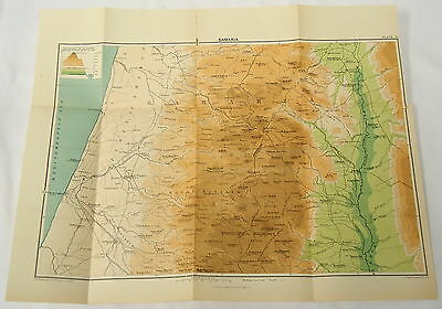 1890 Map of Samaria ~ Today's Lebanon and Syria
