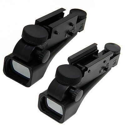 Tactical 1x20x30 Reflex Red Dot Wide View Sight Scope 10/20mm Weaver Rail Mounts