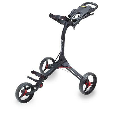 BagBoy Compact 3 Wheel Golf Trolley (Black / Red) DS