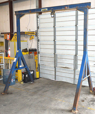 Vestil A-Frame 2000-lb Gantry Crane + Trolley A-Frame I-Beam Fixed-Height